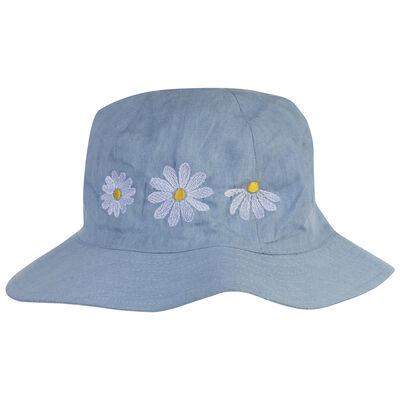 Girls Chambray Daisy Hat