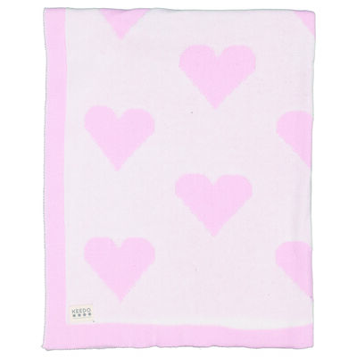 Baby Girls Pink Hearts Blanket