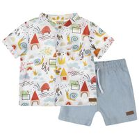 Baby Boys Gavin Set -  midblue