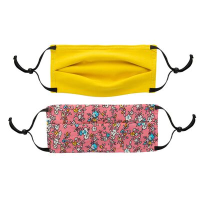 Girls Keedmask Ditsy 2-Pack Toggle Masks