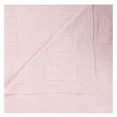 Baby Girls Heart Heirloom Blanket