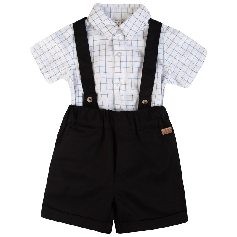 Baby Boys Archie Smart Set -  white