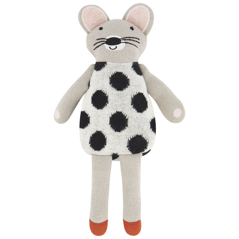 Soft Mouse Toy  -  silvergrey