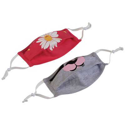 Girls Keedmask Flower Power 2-Pack Toggle Masks