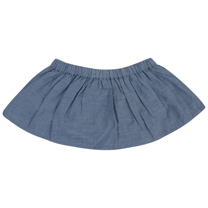 Baby Girls Savanna Denim Bloomer Skirt -  midblue