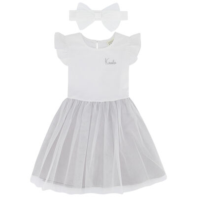 Girls Silver Tutu Dress Set