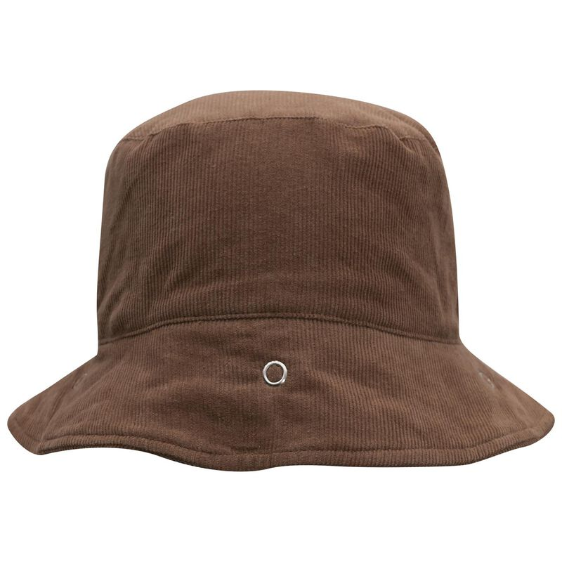 Babies Protective Brown Corduroy Bucket Hat -  tan
