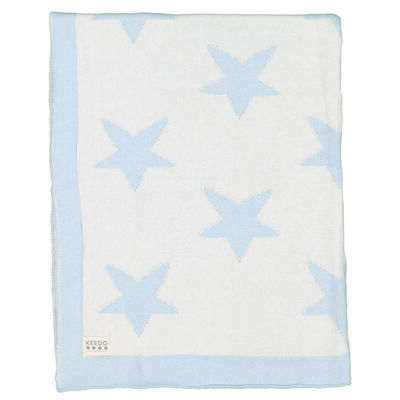 Baby Boys Blue Stars Blanket