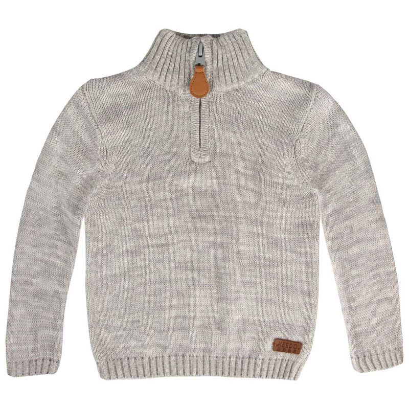 Baby Boys Spencer Knitwear  -  lightgrey