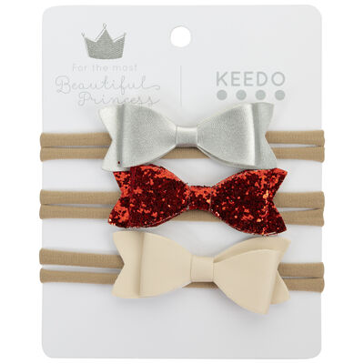 Girls 3-Pack Bow Headband