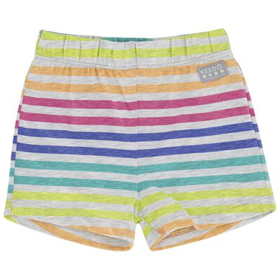 Girls Colourful Stripe Shorts