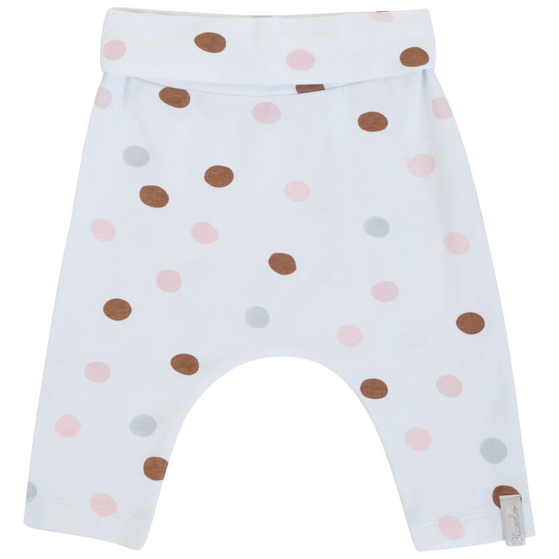 Baby Girls Angie Dot Set  -  white