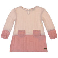 Baby Girls Abby Colourblock Dress -  palepink