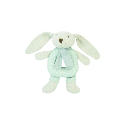 Blue Dotted Rabbit Rattle