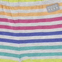 Girls Colourful Stripe Shorts -  assorted