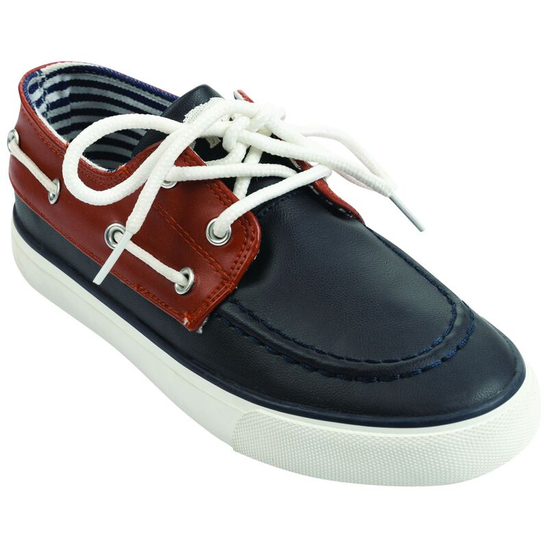 Boys Bentley Boater Shoe -  navy