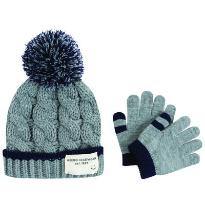 Baby Boys Parker Beanie & Glove Set