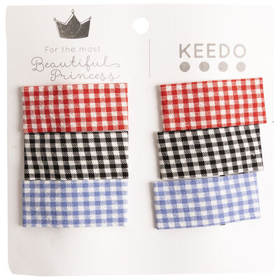 Girls Lara Gingham Clip Pack