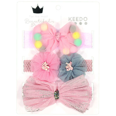 Girls Beth Flower Headband 3-Pack