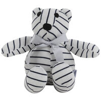 Chris Stripe Bear Toy -  white