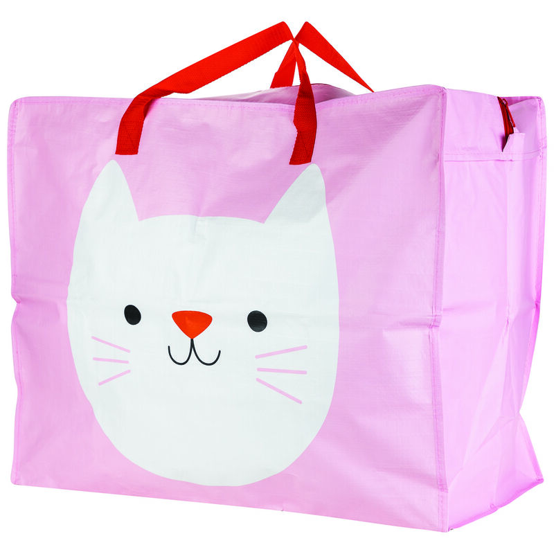 Cookie the Cat Jumbo Shopper -  pink
