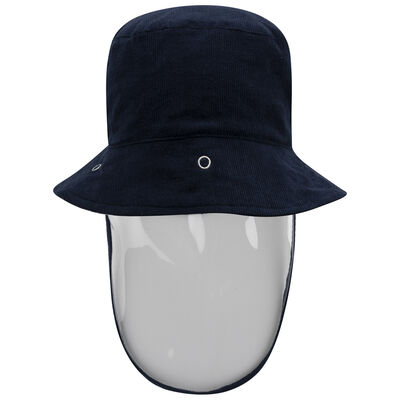 Kids Protective Navy Corduroy Bucket Hat