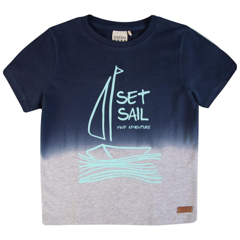 Boys Luke Ombre Tee -  navy