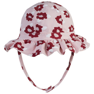 Baby Girls Floral Frilly Hat