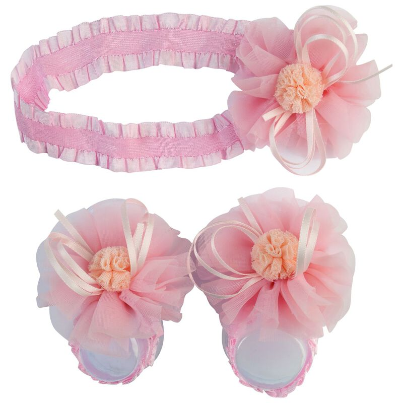 Baby Girls Dora Socks and Headband -  lightpink