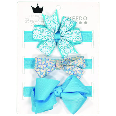 Girls Elsa Bow Headband 3-Pack