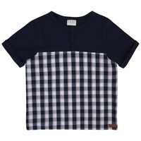 Boys Sawyer Check Set -  navy
