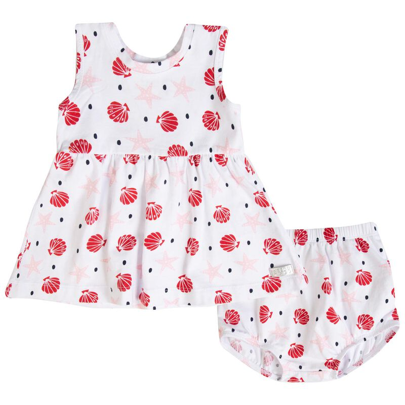 Baby Girls Pansy Set -  white