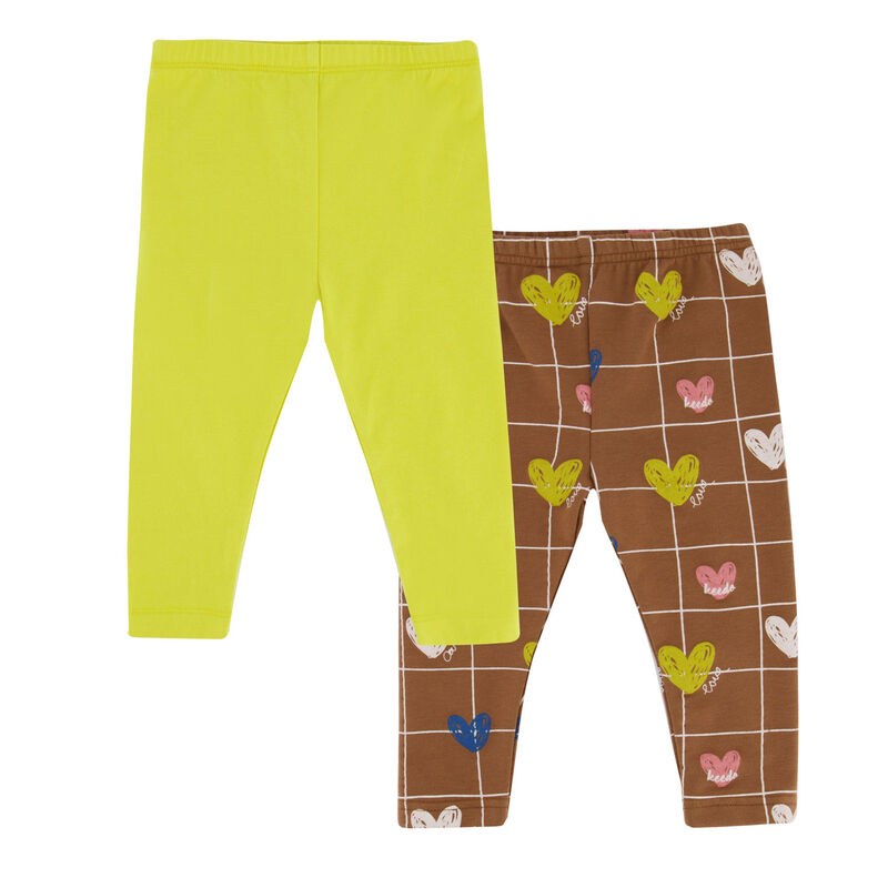 Baby Girls Heart Grid 2-Pack Leggings