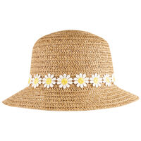 Girls Daisy Cloche -  oatmeal
