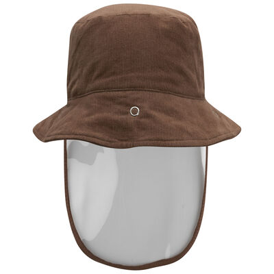 Kids Protective Brown Corduroy Bucket Hat