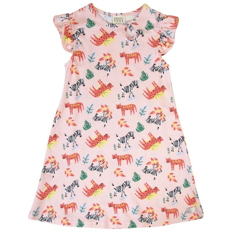 Girls Kitty Flare Dress -  lightpink