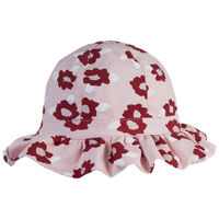 Girls Floral Frilly Hat -  assorted