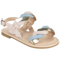 Girls Magnolia Braided Sandal -  lightpink