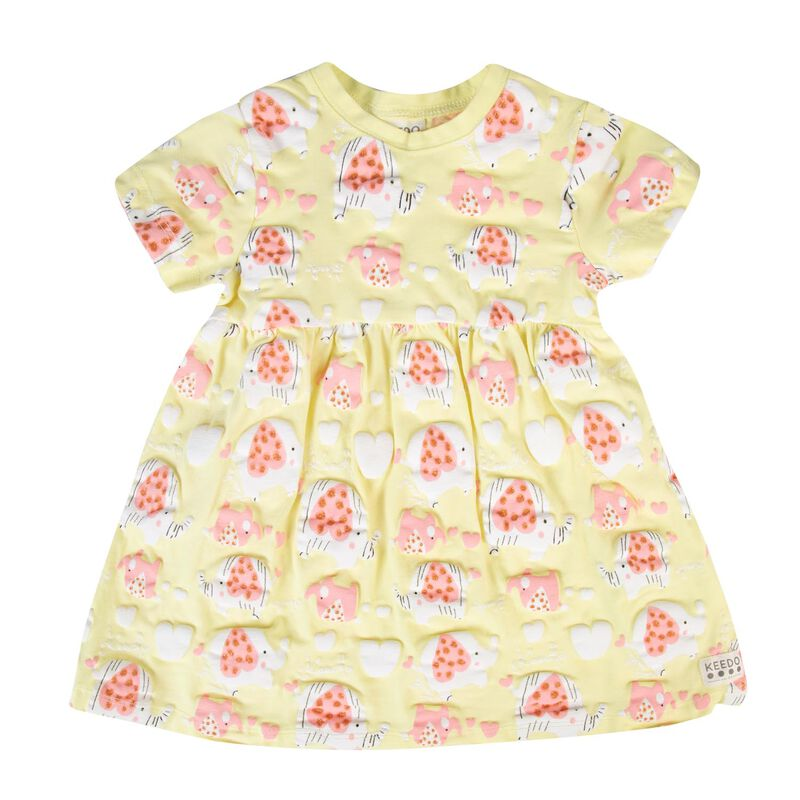 Baby Girls Piper Dress  -  lemon