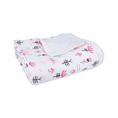 Baby Girls Bunnies Print Muslin Blanket