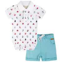 Baby Boys Grant Golfer Set -  white