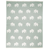 Elephant Blanket -  midblue