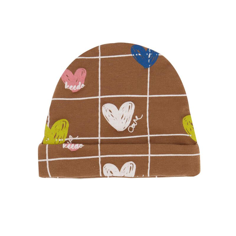 Baby Girls Heart Grid Beanie